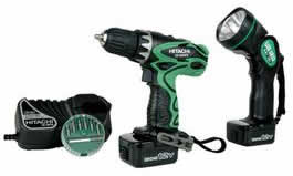 Hitachi DS12DVF3 Driver Drill Kit with Flashlight