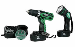 Hitachi DS18DVF3 Driver Drill Kit with Flashlight