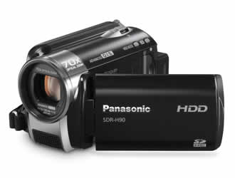 Panasonic SDR-H90 HDD/SD Card Standard Definition Camcorder