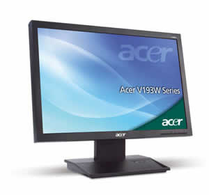 Acer V193W LCD Monitor
