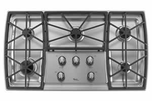 Whirlpool GLS3675VS Gas Cooktop