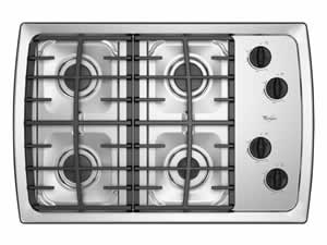 Whirlpool SCS3017RS Gas Cooktop