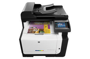 HP LaserJet Pro CM1415fnw Color MFP Printer